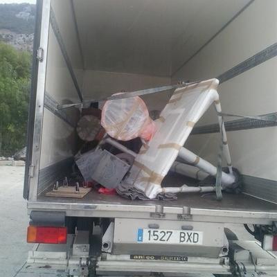 transporte y embalaje canastas baloncesto completas