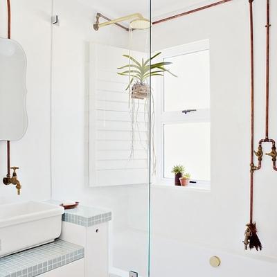 tuberías cobre en baño