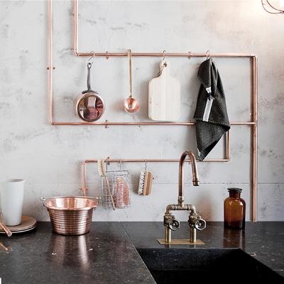 tuberías de cobre cocina