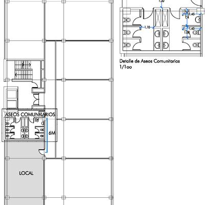 Ubicación de la oficina en planta piso