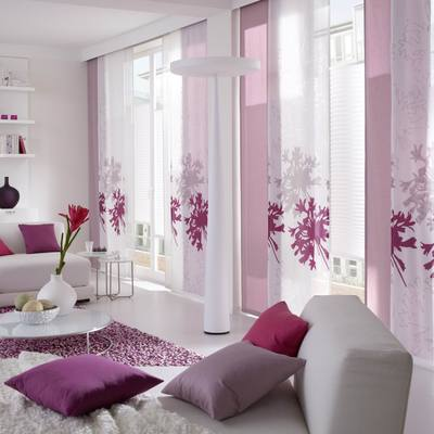 paneles japoneses con cortinas