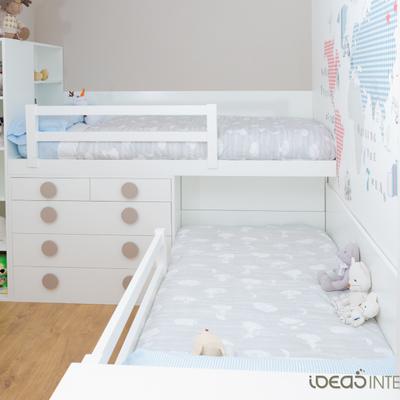 Una habitación infantil muy actual.