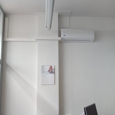 Instalación de aire acondicionado en una tienda