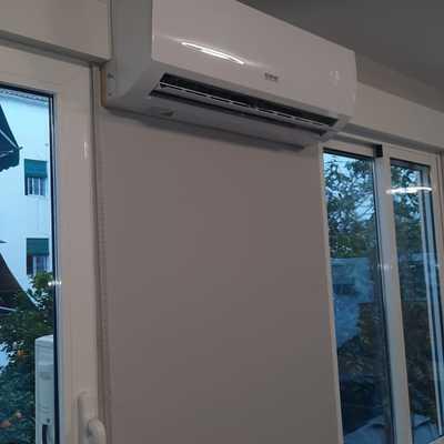 Instalación de aire acondicionado estrecho