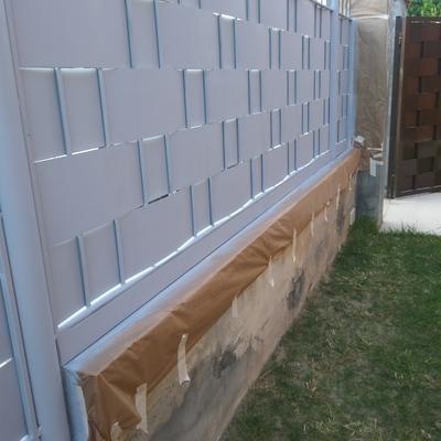 Pintado de valla galvanizada