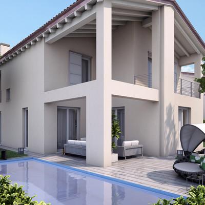 EXTERIORES, FACHADAS, JARDINES Y PISCINAS Varios proyectos - Diseño de interiores 3D.