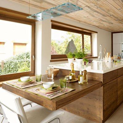 ventan pvc madera