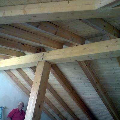 Estructura y Cubierta de madera Vista