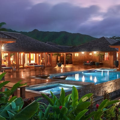 villas balinesas de madera tropical