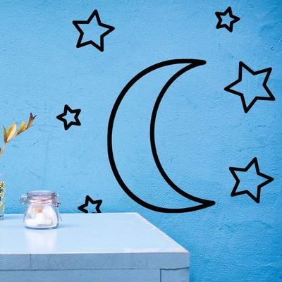 Vinilo estrellas y luna