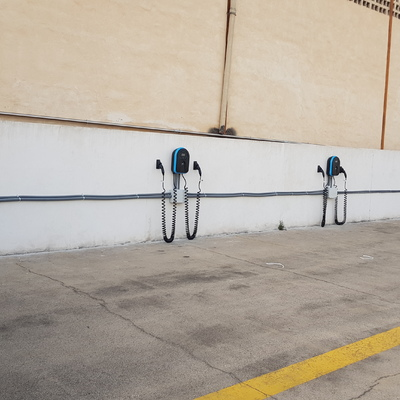 Instalación de cargadores para vehículos eléctricos realizada en Pepsico Mallorca