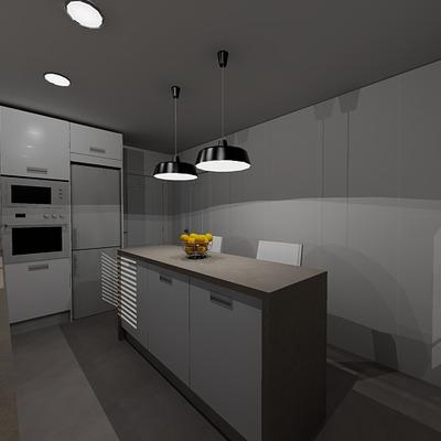 Estudio de reforma de una cocina y un baño