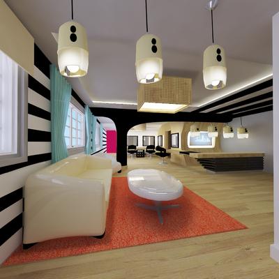 Proyecto de interiorismo 3D para salón de belleza en Plaza Molina (Barcelona)