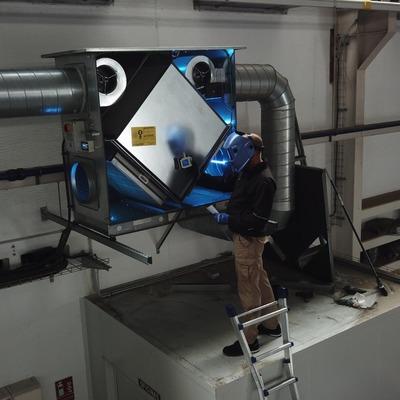 Instalación sistemas germicida UVC centralizado
