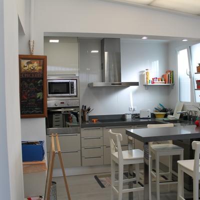 Vista cocina desde sala de día