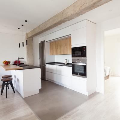 Vista cocina y dormitorio