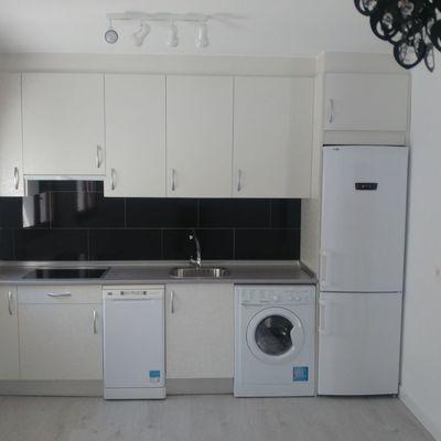 Vista de cocina-salón