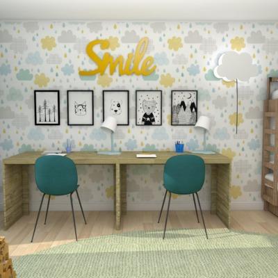 Proyecto de decoración online de un dormitorio para dos hermanos