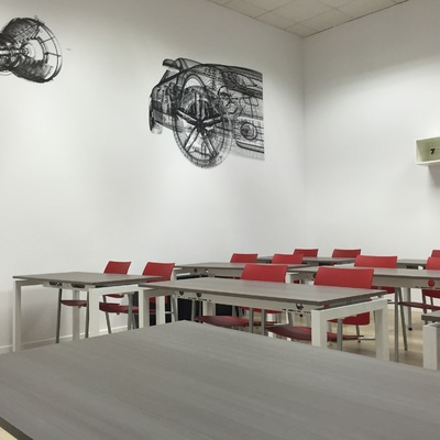 Vista de la sala de formación
