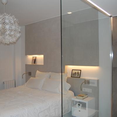Vista dormitorio desde baño