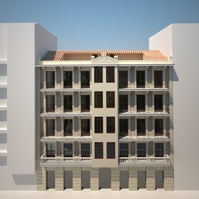 Rehabilitación de fachada en edificio protegido, Madrid