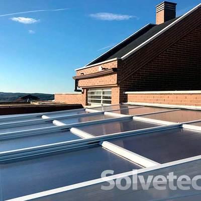 Acristalamiento de techo móvil en un ático de Madrid