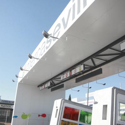 Diseño y construcción de control de acceso a Mercasevilla