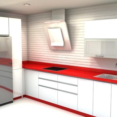 Cocina en 3D en Santa Cruz de Tenerife
