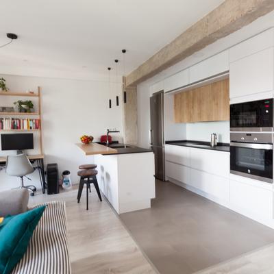 Vista general cocina abierta