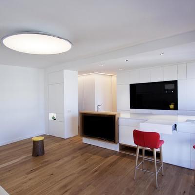 Vista general de salón y cocina