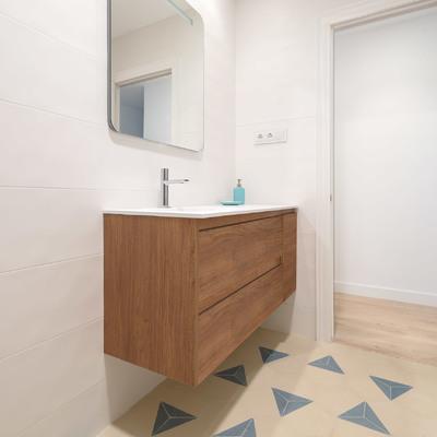 Baldosa Hidráulica Hexagonales para baño contemporáneo en Gijón
