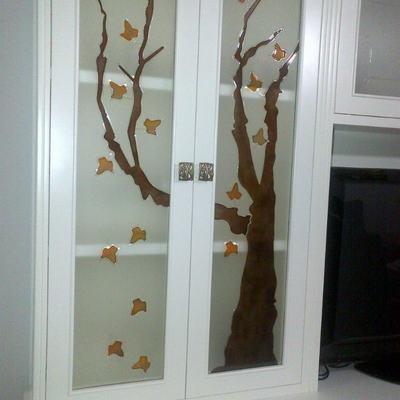 Vidrios decorados para mueble de salón