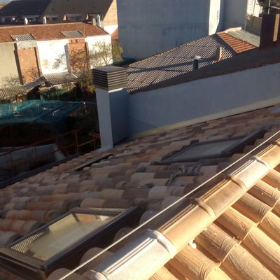 Construcción de tejado en obra nueva, Madrid
