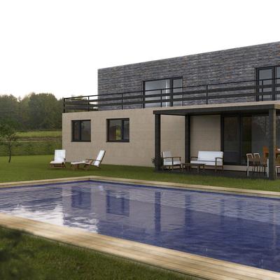 Vista trasera de la Casa Cube de 250 m2