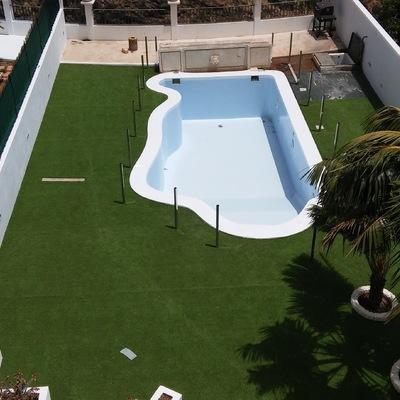Remodelación de terreno y piscina