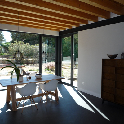 Vivienda bioclimática en la sierra de Madrid.