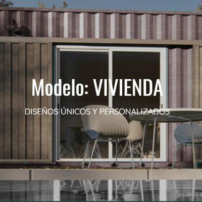 Construcción de viviendas industrializadas con containers marítimos.
