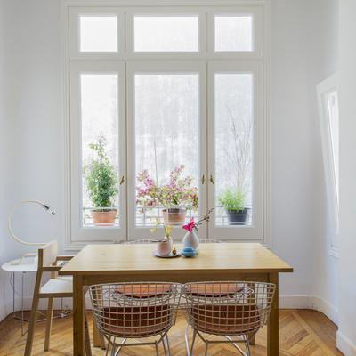 Una vivienda que combina decoración low cost y vintage