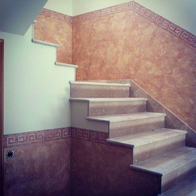Zocalo de escalera en tierras florentinas