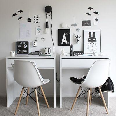 Zona de estudio de estilo nórdico