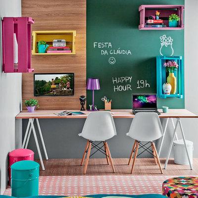Zona de estudio de habitación compartida