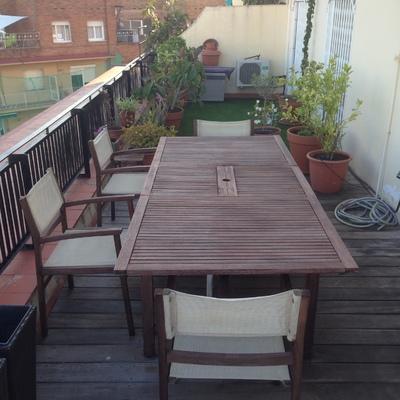 arreglando una terraza para el verano
