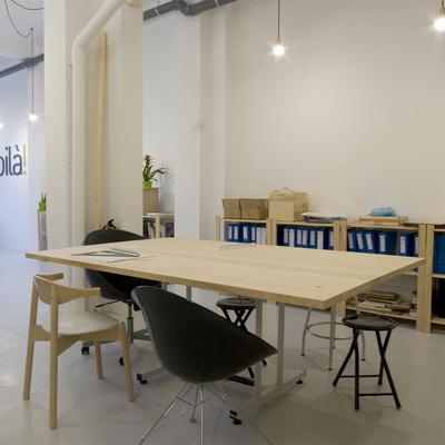zona de presentaciones y trabajos