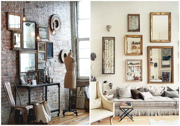 Foto decorar con colecciones de espejos de ecodeco - Espejos vintage ikea ...