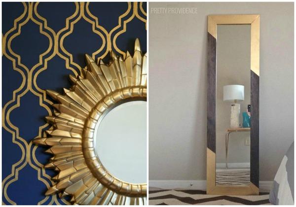 Foto espejos dorados de ecodeco mobiliario 1009492 - Espejos dorados modernos ...