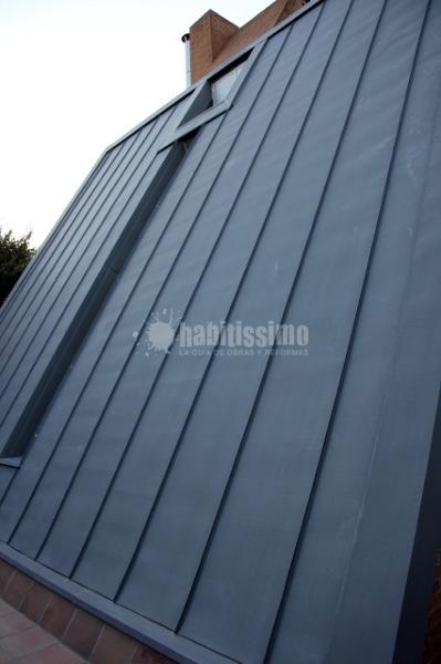 Instalación cubierta de zinc