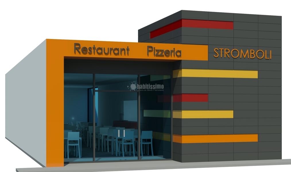 Reforma de local para pizzer a y proyecto de actividad en for Fachadas de locales de comida rapida