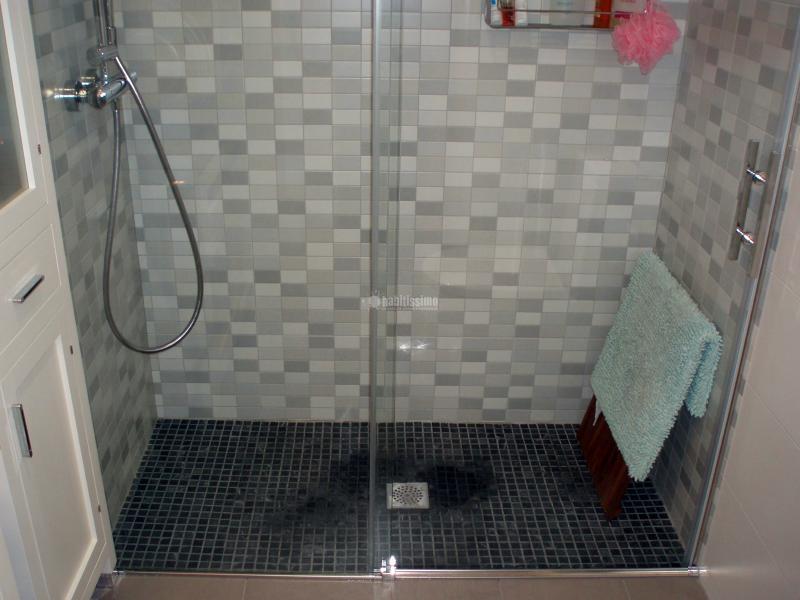Reforma Baño Rustico:Reforma baño, con plato de ducha de obra