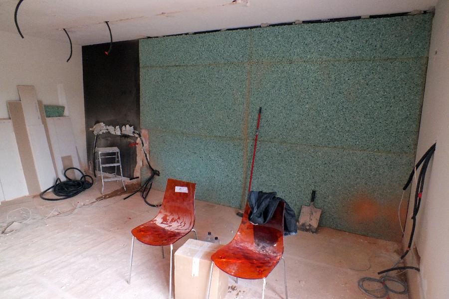 Foto aislamiento ac stico en pared medianera con vecino - Aislantes acusticos para paredes ...