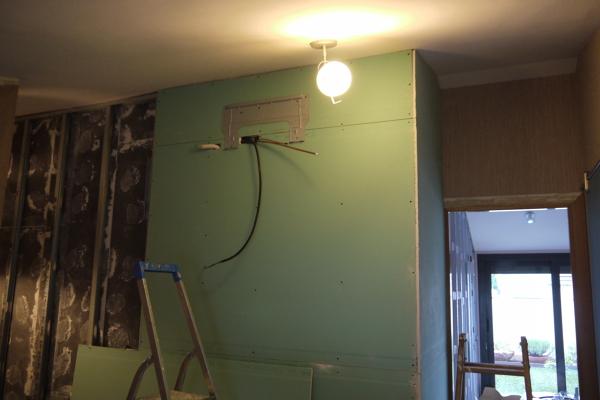 Foto aplacado de placas de pladur con placas anti humedad - Placa de pladur ...